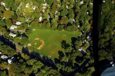 Aerial view of Henderson Field, Swarthmore, PA.