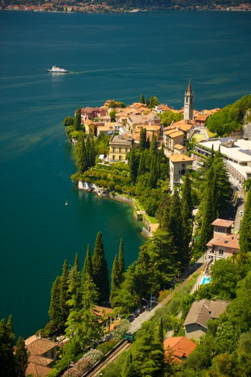 Varenna, Italy as seen from the Eremo Guadio Hotel.